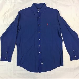 Ralph Lauren Blue Long Sleeve Medium Shirt